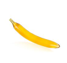 Скляна анальна пробка у формі банана