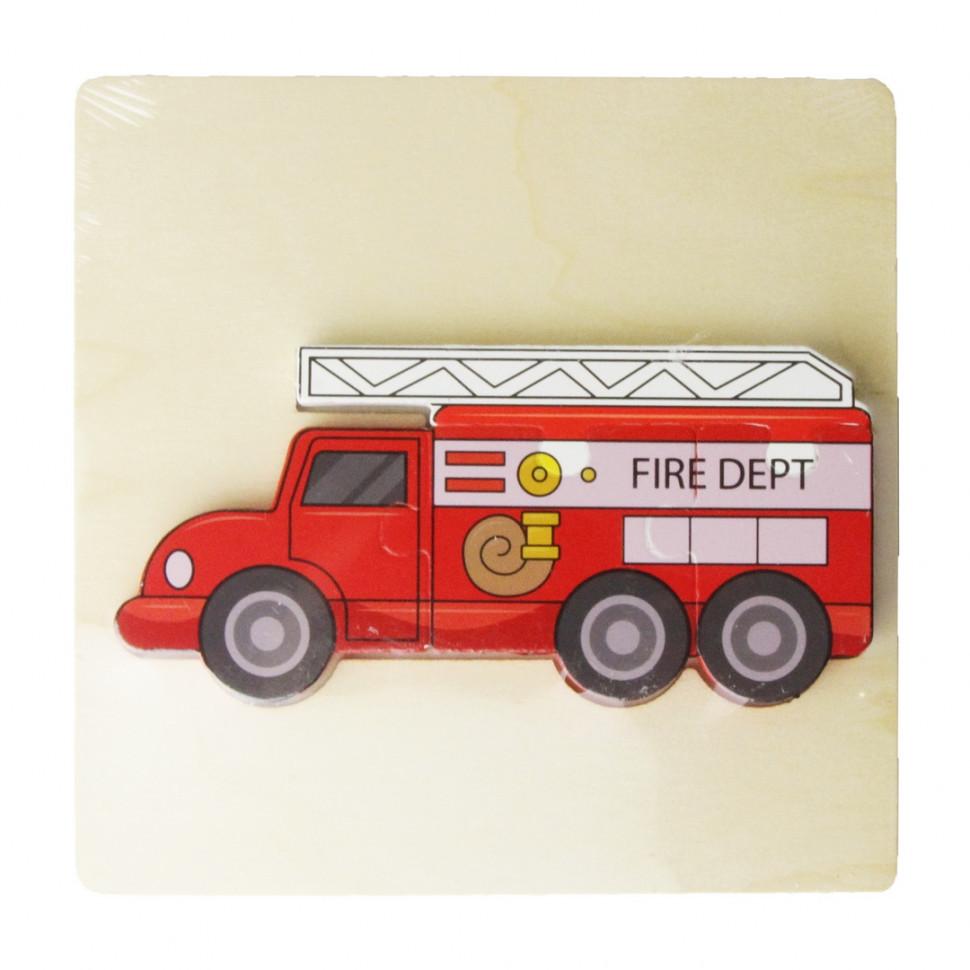Деревянная игрушка Пазлы MD 2598 (Пожарная машина)