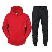 Спортивный костюм мужской осень весна парные толстовка и штаны красный
