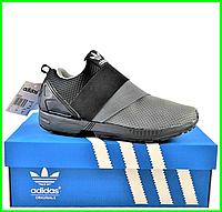 Кроссовки Adidas Чёрно - Серые Мужские Адидас (размеры: 40,41,42,43,44) Видео Обзор