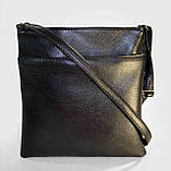 Сумка-планшет женская черная комбинированная код 9-2, фото 3