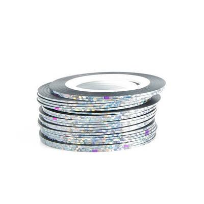 Нить для ногтей Голографическое Серебро