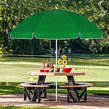 Пляжный (садовый) зонт усиленный с регулируемой высотой Springos 240 см BU0004, фото 3