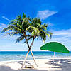Пляжный (садовый) зонт усиленный с регулируемой высотой Springos 240 см BU0004, фото 5