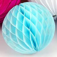 Бумажный шар-соты, светло-голубой, 30 см