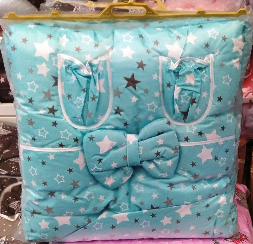 Набор детского постельного белья - 9 предметов, Бортики в кроватку малыша, Защита в манеж