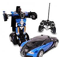Машинка-трансформер на радиоуправлении Glorious Mission Autobot маленькая | Машинка на пульте | Робот-машина