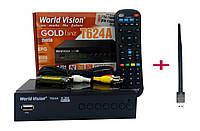 Т2 тюнер World Vision T624А + WI-FI модуль 5Дб дальнобойный + Прошивка IPTV Гарантия 12 мс