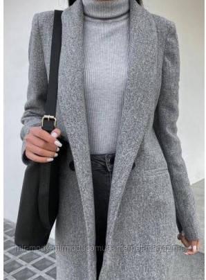 Кашемировое пальто весна арт 385  размер S-M и М-L (селен 600)