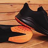 Чоловічі кросівки Стилі Заїр (чорні з помаранчевої підошвою), фото 2