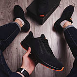 Чоловічі кросівки Стилі Заїр (чорні з помаранчевої підошвою), фото 3