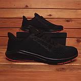 Чоловічі кросівки Стилі Заїр (чорні з помаранчевої підошвою), фото 4