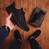 Чоловічі кросівки Стилі Заїр (чорні з помаранчевої підошвою), фото 5