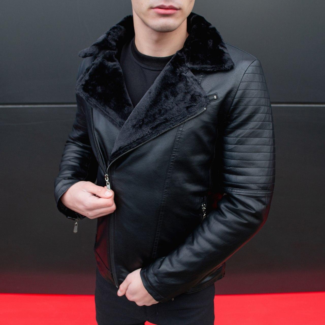 Мужская зимняя куртка Ямаха (черная)