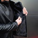 Мужская зимняя куртка Ямаха (черная), фото 7