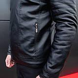 Мужская зимняя куртка Ямаха (черная), фото 8