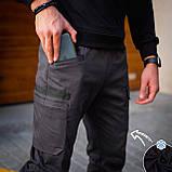 Чоловічі штани Vibukh на флісі (антрацит), фото 3