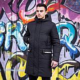 Мужская зимняя куртка 'Interstellar' (черная), фото 5