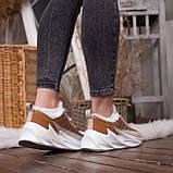 Женские зимние ботинки Стилли Реберу (бело-коричневые), фото 2