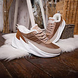 Женские зимние ботинки Стилли Реберу (бело-коричневые), фото 4
