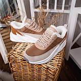 Женские зимние ботинки Стилли Реберу (бело-коричневые), фото 5