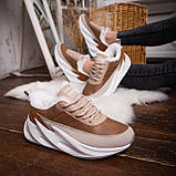 Женские зимние ботинки Стилли Реберу (бело-коричневые), фото 6