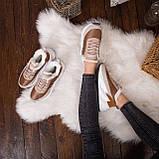 Женские зимние ботинки Стилли Реберу (бело-коричневые), фото 7
