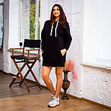 Жіноче плаття-худі (чорне), фото 2