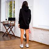 Жіноче плаття-худі (чорне), фото 4