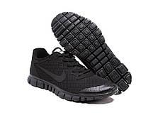 Кроссовки Nike Free Run 3.0 черные  беговые кроссовки