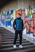 Мужская куртка Valeriyskaya stal' (черно-синяя) - XL