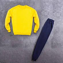 Мужской зимний спортивный костюм 99 (желтый с темно-синим) - S