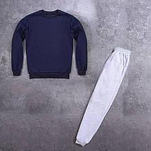 Мужской зимний спортивный костюм 99 (темно-синий с серым) - S