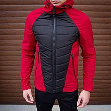 Мужская куртка Rafael (бордово-черная) - S