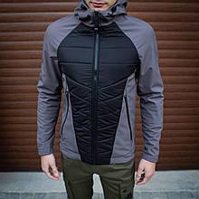 Мужская куртка Rafael (серо-черная) - XXL