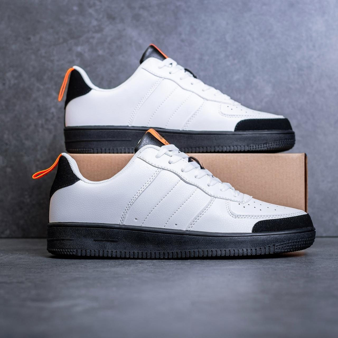 Мужские кроссовки Стилли форс Тресс (белые с оранжевой вставкой) - 43.45 рр