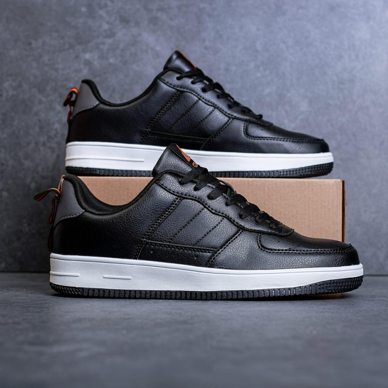 Мужские кроссовки Стилли форс Тресс (черные с белой подошвой) - 43 и 45 рр