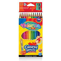 Набір тригранних кольорових олівців Colorino 12 кольорів Triangular coloured pencils