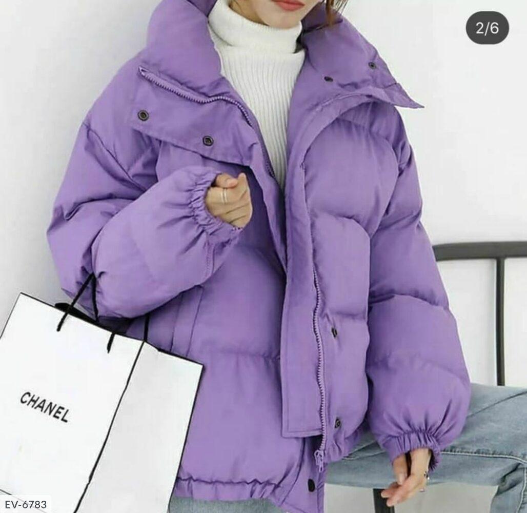 Женская фиалковая куртка