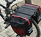 Велосумка на багажник. Сумка на багажник велосипеда загальним обсягом 27L. Колір чорний з синіми вставками, фото 4