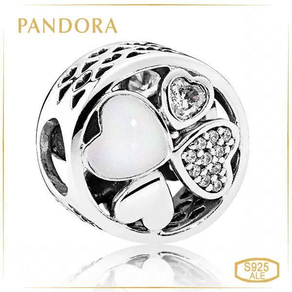 """Пандора Подвеска-шарм из серебра """"Сердца любви"""" Pandora 792143CZ"""