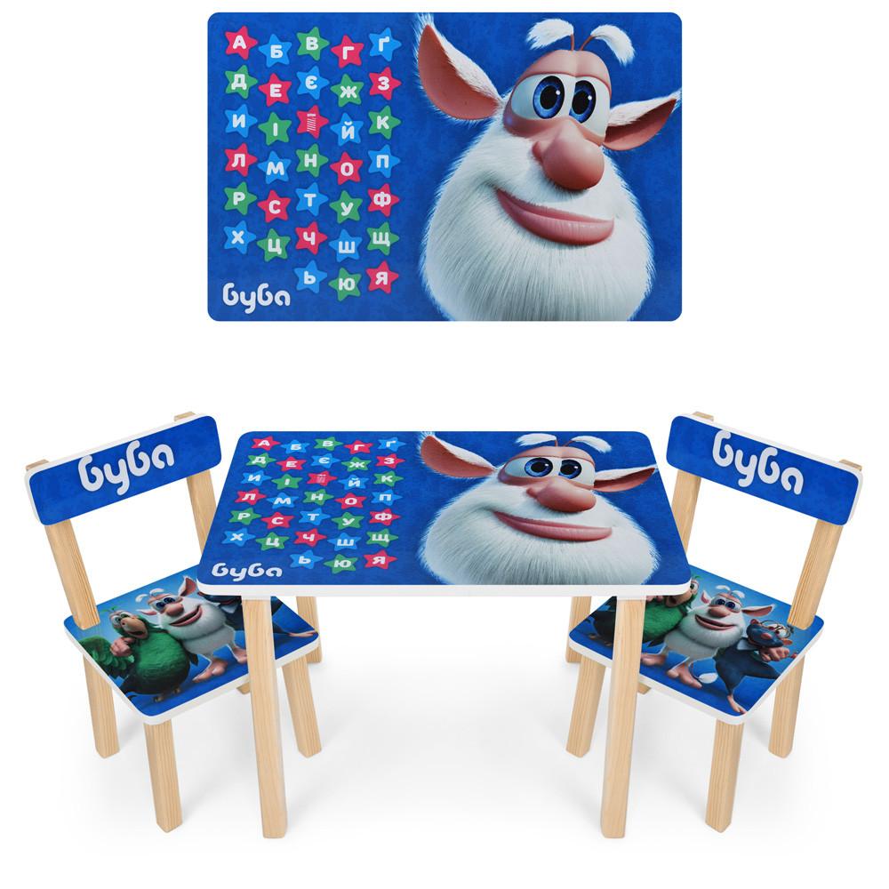 Детский деревянный столик со стульчиками 501-103 Буба