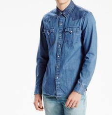 Джинсовая рубашка Levis Classic Western Shirt  - Pieced Stone Light