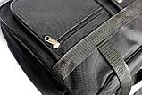 Вместительная мужская сумка черного цвете (W 2630), фото 6