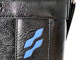 Мужская сумка черного цвета с синими вставками (54264), фото 5