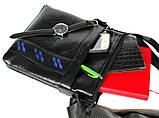 Мужская сумка черного цвета с синими вставками (54264), фото 6