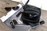 Кожаная сумка для мужчин вместительная черная (8655), фото 3