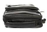 Кожаная сумка для мужчин вместительная черная (8655), фото 5