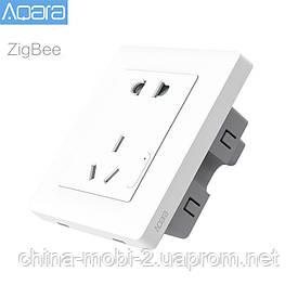 Розумна розетка Xiaomi Aqara Smart Socket ZiGBee white