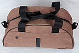 Сумка спортивная коричневого цвета унисекс (213к), фото 2